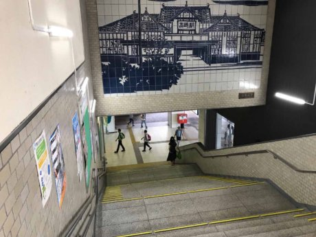 高崎駅地上への階段