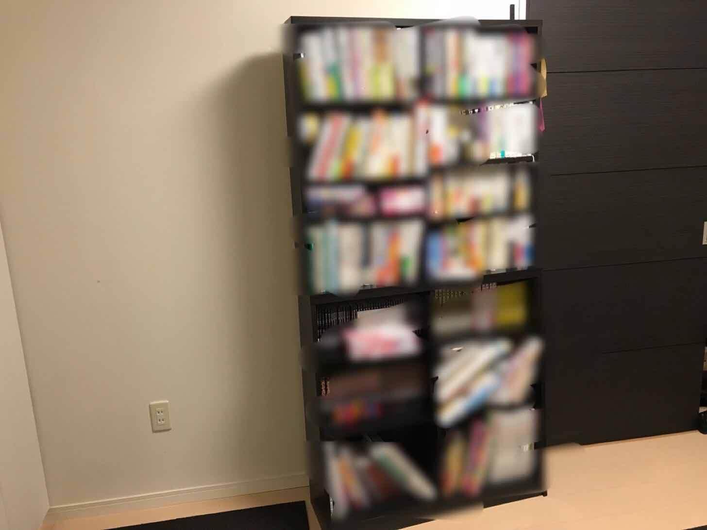 カーペット張り替え本棚