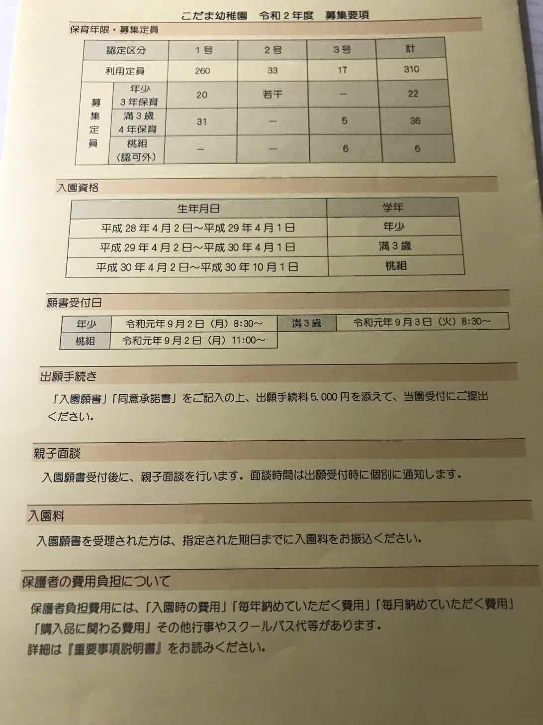 こだま幼稚園-資料